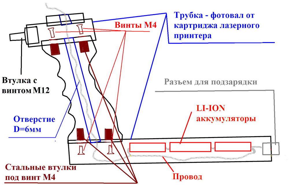 Самодельная штанга для металлоискателя